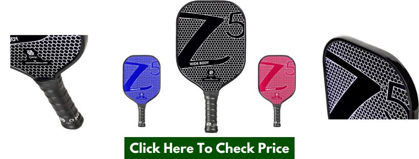 Onix Composite Z5 Pickleball Paddle Features Nomex, Paper Honeycomb Core and Fiberglass Face