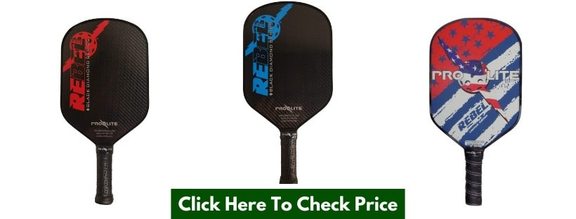 Prolite Rebel PowerSpin Pickleball Paddle Color Red, White and Blue
