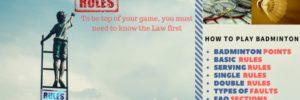 Rules & Regulation of Badminton