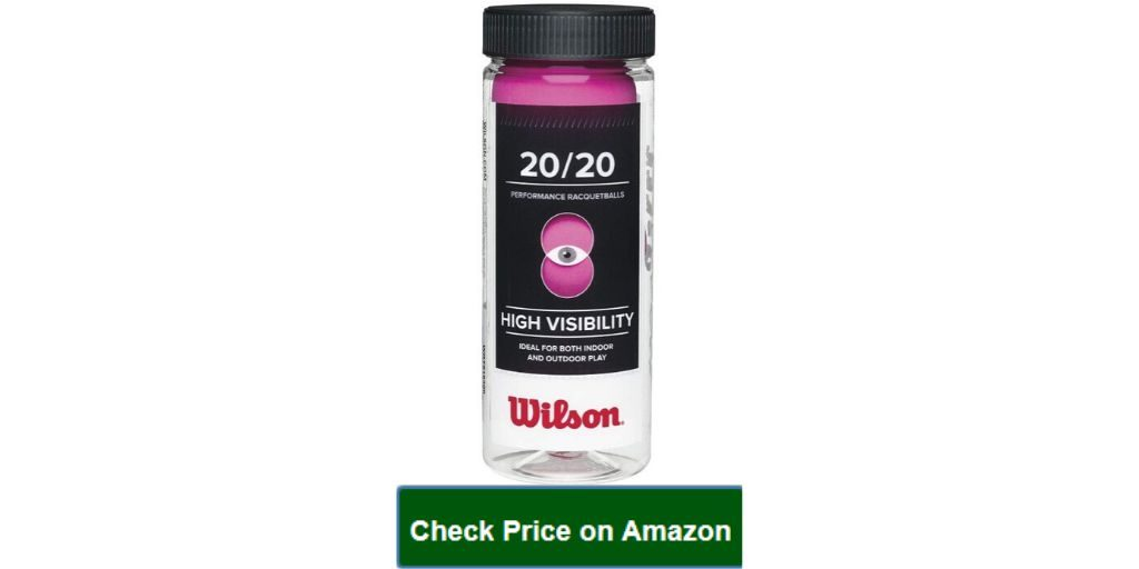 Best Wilson 20_20 Racquetball (3 Ball Can) Pink