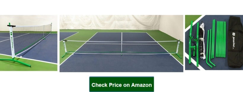 3.0 Portable Pickleball Net System (Set Includes Metal Frame and Net in Carry Bag) _ Durable and Easy to Assemble