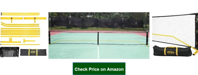A11N Portable Pickleball Net System, Designed for All Weather Conditions with Steady Metal Frame and Strong PE Net, Regulation Size Net with Carrying Bag
